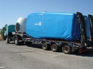 Transporte de generador eólico