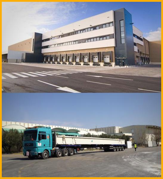 Transporte de estructura para nuevo centro logístico de Lidl