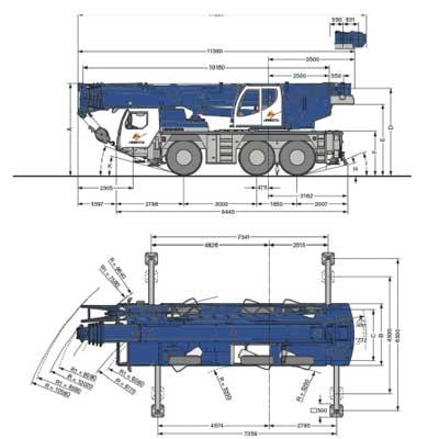 LTM 1055 dimensiones