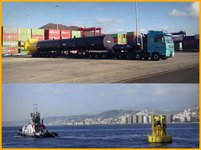 Transporte de generador marítimo